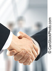 handshake - business handshake and people background