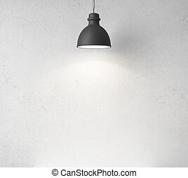 concrete wall and ceiling lamps