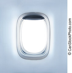 empty porthole - high definition empty aircrafts porthole