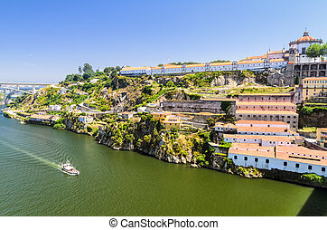 Wine cellars of Porto, Portugal - Douro river and wine...