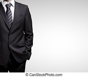 businessman in suit - man in suit on a white background