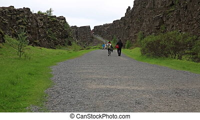 Thingvellir Iceland - National Park of Thingvellir Iceland...