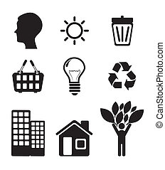 eco design over white background vector illustration