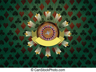 roulette ribbon - illustration of roulette with blank ribbon...