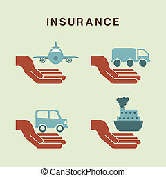 insurance design over beige background vector illustration