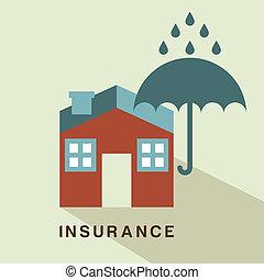 insurance design over beige background vector illustration