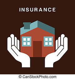 insurance design over brown background vector illustration