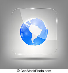 Globe Icon Vector Illustration