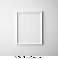 paper frames - blank paper frames on white wall
