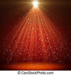 great christmas texture with shining stars and rays