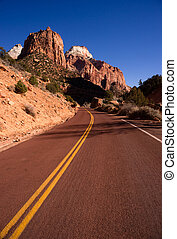 Two Lane Road Hoighway Travels Desert Southwest Utah...