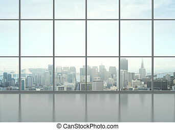 office interior and city view