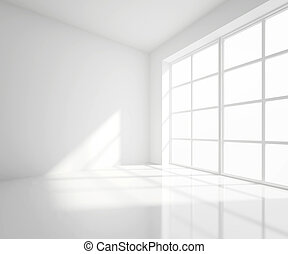 white room - High resolution white room with window