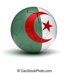 Algerian Football (isolated with clipping path)