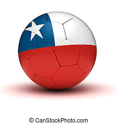 Chilean Football (isolated with clipping path)
