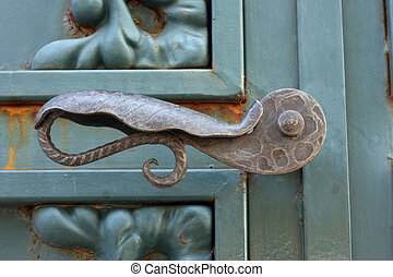 Vintage Door Handle - Vintage door handle close up
