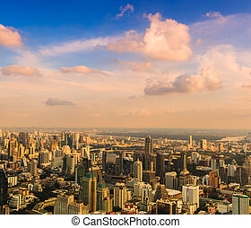 Bangkok cityscape. Bangkok view in the business district...