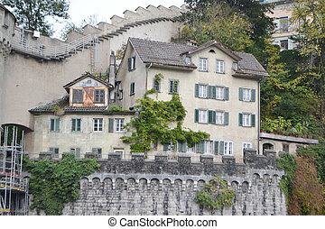 Old building in Lucerne, Switzerland - View of old building...