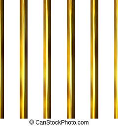 3D Golden Bars - 3d golden bars isolated in white