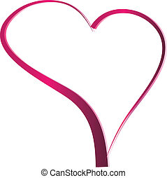 Valentines day heart - pink gradient Heart shaped valentines...