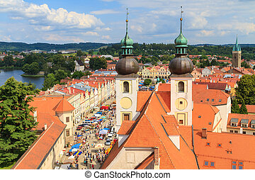 Telc, view on old town a UNESCO world heritage site, Czech...