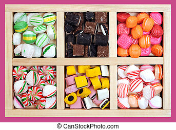 variety of holiday candies