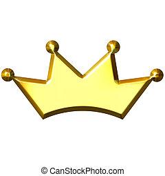 3D, Doré, couronne