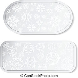 Vector paper white Christmas stickers - labels for advertising