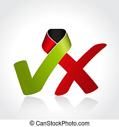Vector check mark symbol, icon - illustration