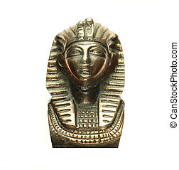 Pharaoh bust isolated in white