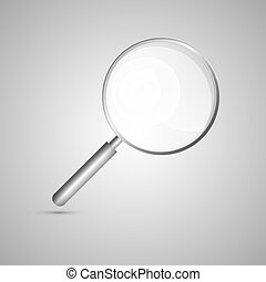 Magnifying Glass Isolated on Grey Background