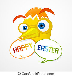Vector Easter Background. Funny Abstract Egg.