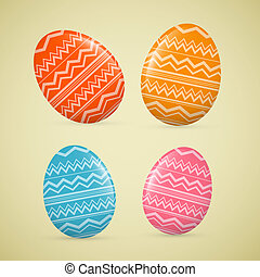 Abstract Vector Easter Eggs