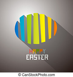 Abstract Colorful Easter Egg Background