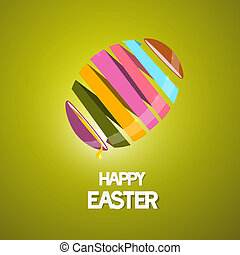 Vector Easter Background with 3d Abstract Egg