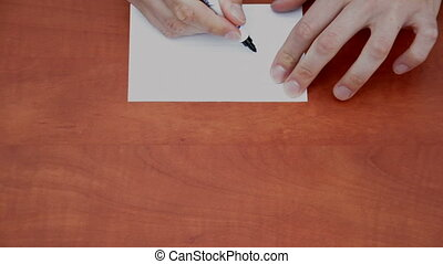 Handwritten word Copy - Handwritten word Copy on white paper...