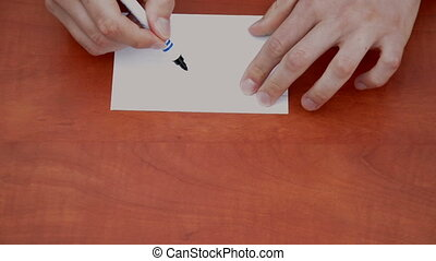 Handwritten word Dollar - Handwritten word Dollar on white...