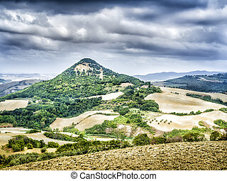 Landscape with hill Tuscany