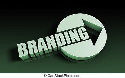 Branding Concept With an Arrow Going Upwards 3D