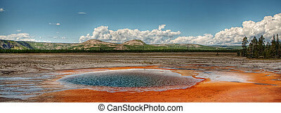 Yellowstone Thermal Hot Springs - A steaming pool of water...