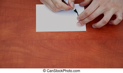 Handwritten word Immediately  on white paper sheet