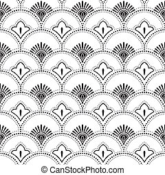 Traditional vector floral wallpaper