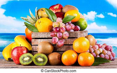 fresco, frutas