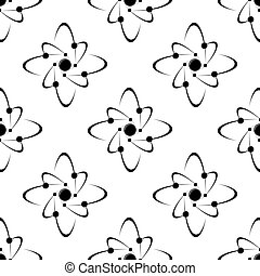 Seamless pattern of molecules