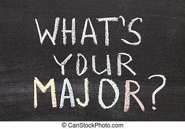 what your major - what is your major question handwritten on...