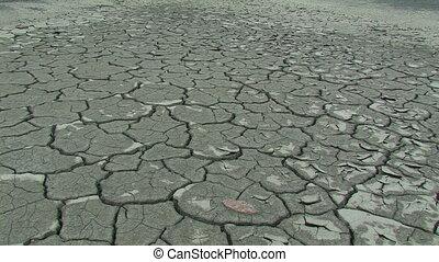 Dry soil. Zoom in.