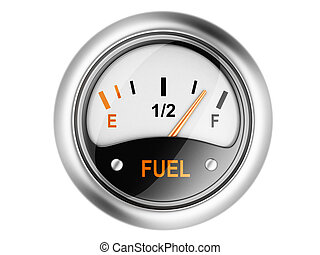 Fuel gauge 3d illustration isolated on a white background