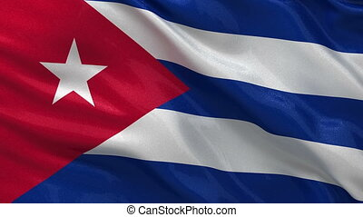 Flag of Cuba seamless loop - Flag of Cuba waving in the wind...