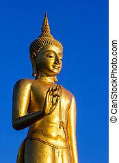 Stand Golden Buddha Statue in Thailand - Stand Golden Buddha...