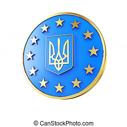 Ucrania, Europa, bandera, emblema